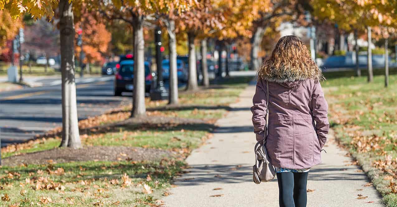 Woman Walking Outside